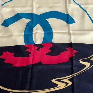 100% authentic new Chanel silk scarf
